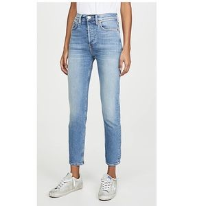 Re/Done High Rise Ankle Crop Jeans - FREE SHIPPING